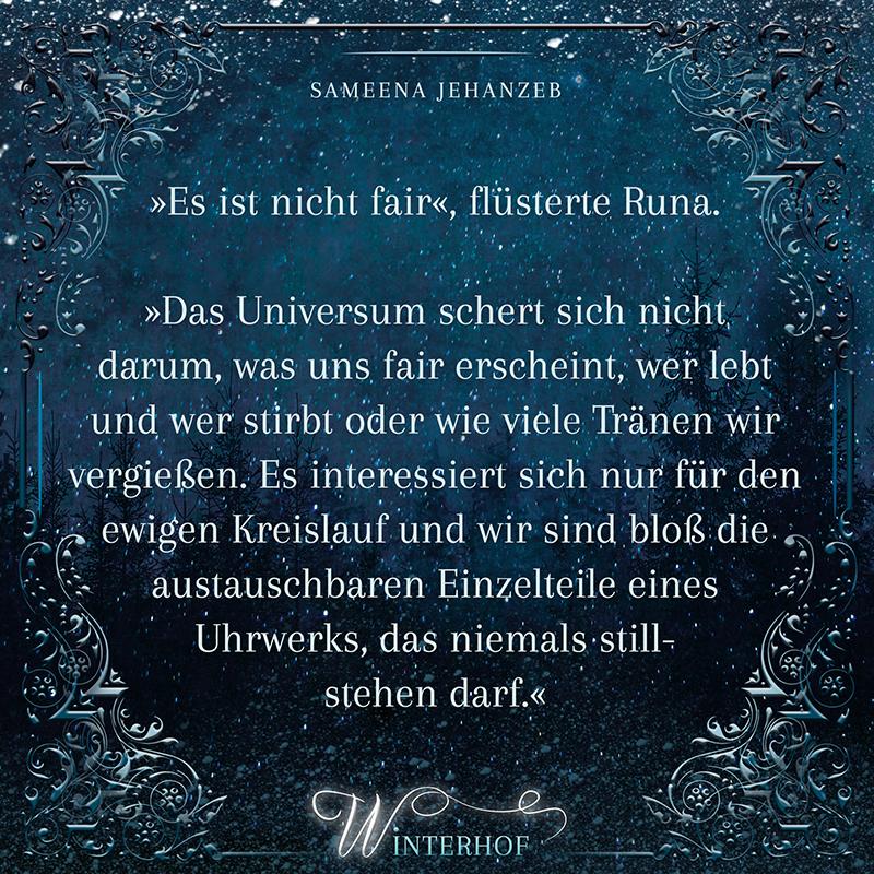 Zitat aus Winterhof von Sameena Jehanzeb